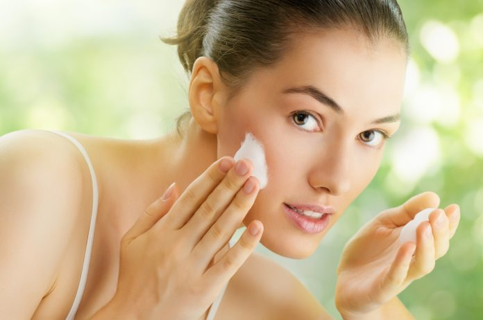 Image result for girl cleansing clear face