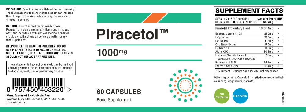 piracetol_ingredients