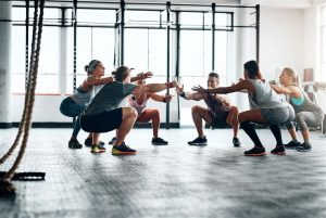Exercising in a group