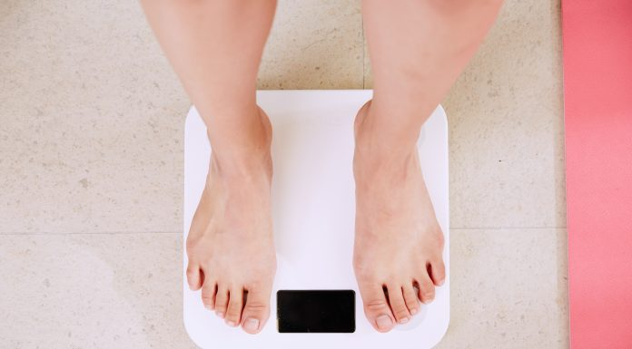 scale that shows stress and weight gain